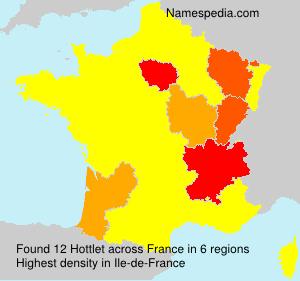Surname Hottlet in France