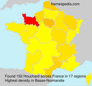 Surname Houchard in France