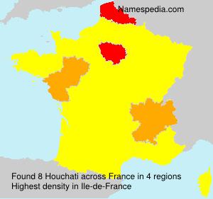 Familiennamen Houchati - France