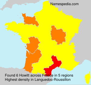 Surname Howitt in France