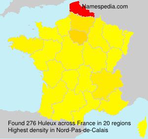 Familiennamen Huleux - France