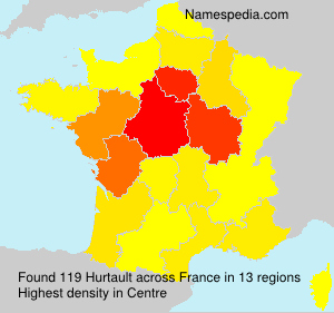 Surname Hurtault in France