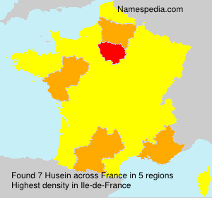 Surname Husein in France