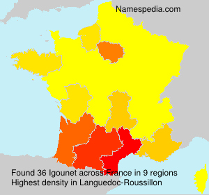 Surname Igounet in France