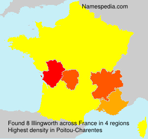 Surname Illingworth in France