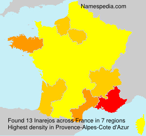 Surname Inarejos in France