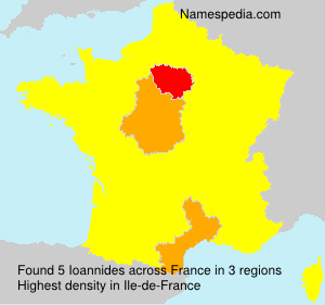 Surname Ioannides in France
