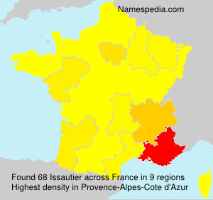 Surname Issautier in France
