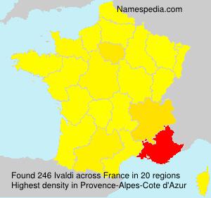 Surname Ivaldi in France