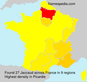 Surname Jaccaud in France