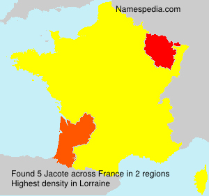 Surname Jacote in France