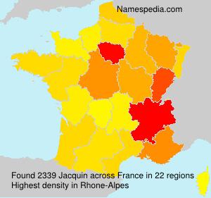 Surname Jacquin in France