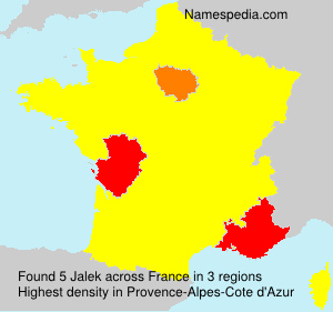 Surname Jalek in France