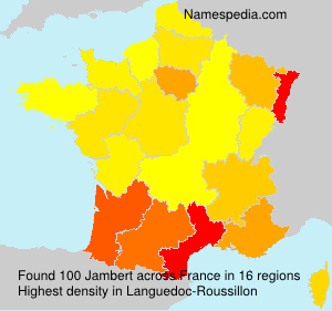 Surname Jambert in France