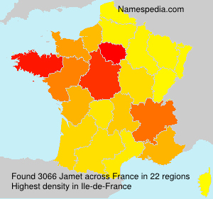 Surname Jamet in France