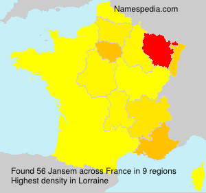 Surname Jansem in France
