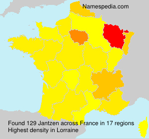 Familiennamen Jantzen - France