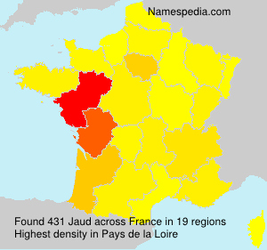 Surname Jaud in France