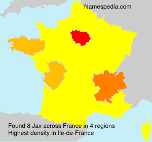 Surname Jax in France