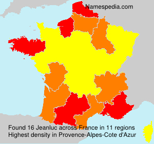 Surname Jeanluc in France