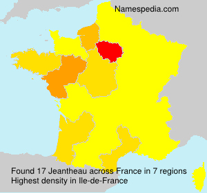 Surname Jeantheau in France