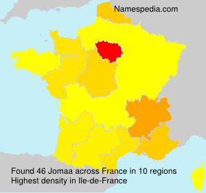 Surname Jomaa in France
