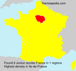 Surname Jootun in France
