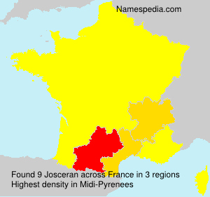 Surname Josceran in France