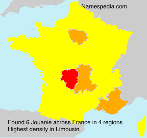 Surname Jouanie in France