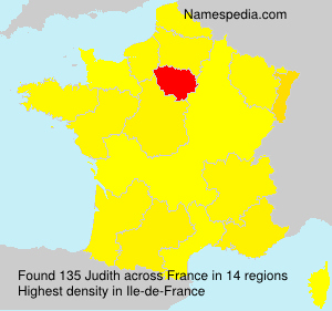 Surname Judith in France
