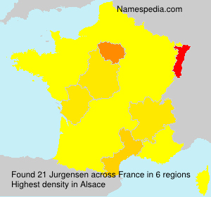 Surname Jurgensen in France