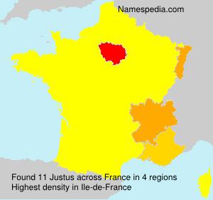 Familiennamen Justus - France
