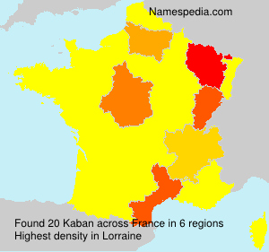 Surname Kaban in France