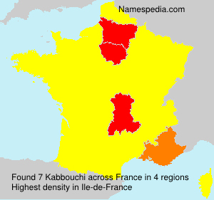 Surname Kabbouchi in France