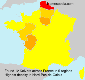Surname Kaivers in France