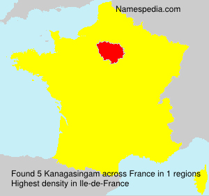 Surname Kanagasingam in France