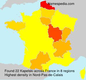Surname Kapelski in France