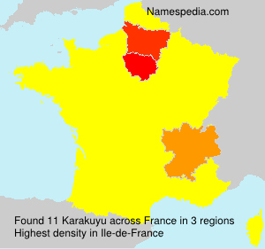 Surname Karakuyu in France