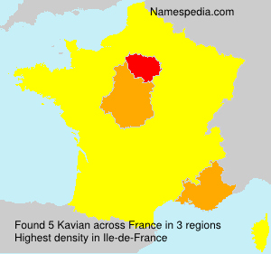 Surname Kavian in France