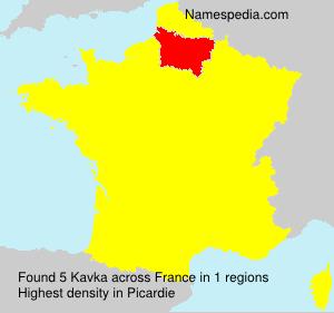 Surname Kavka in France