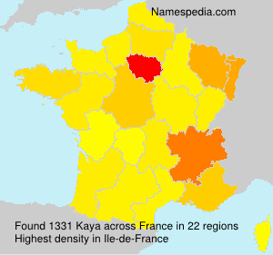 Surname Kaya in France