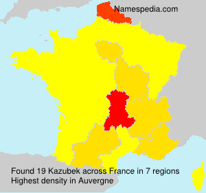 Surname Kazubek in France