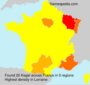 Familiennamen Kegel - France