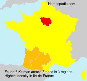 Surname Kelman in France
