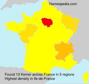 Surname Kemer in France
