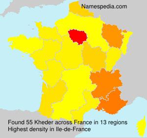 Familiennamen Kheder - France