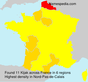 Surname Kijak in France