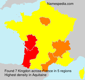 Surname Kingdon in France
