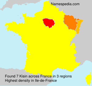 Surname Kisin in France