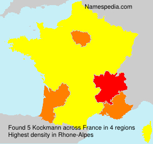 Surname Kockmann in France